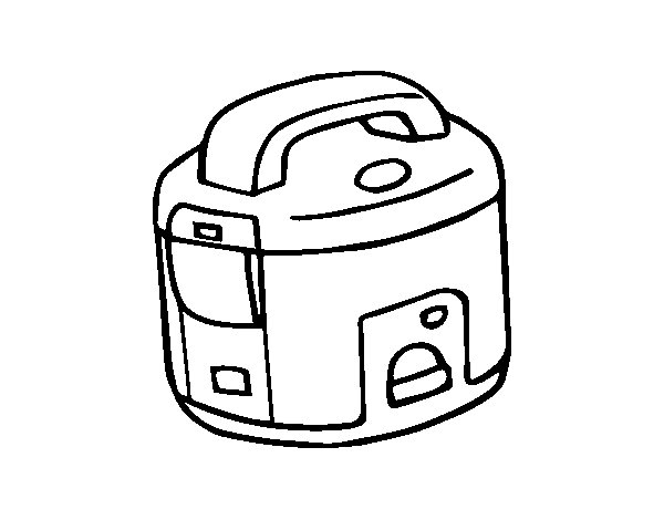 Rice cooker coloring page - Coloringcrew.com