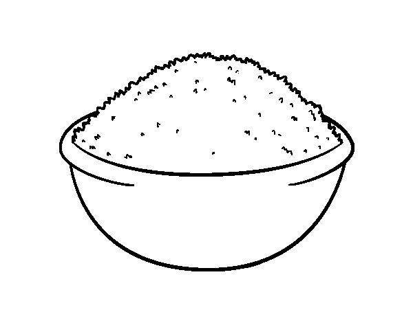 Rice dish coloring page