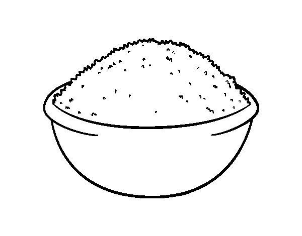 Rice dish coloring page - Coloringcrew.com