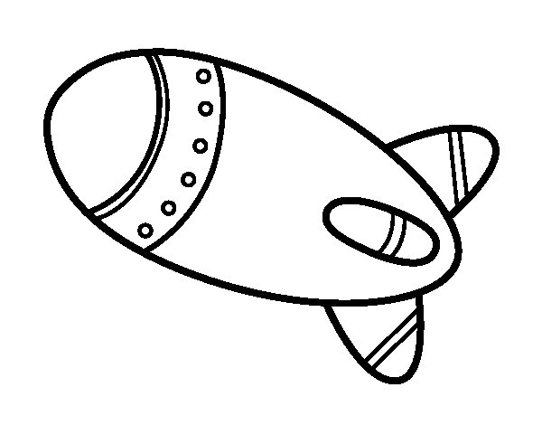 Rocket in space coloring page