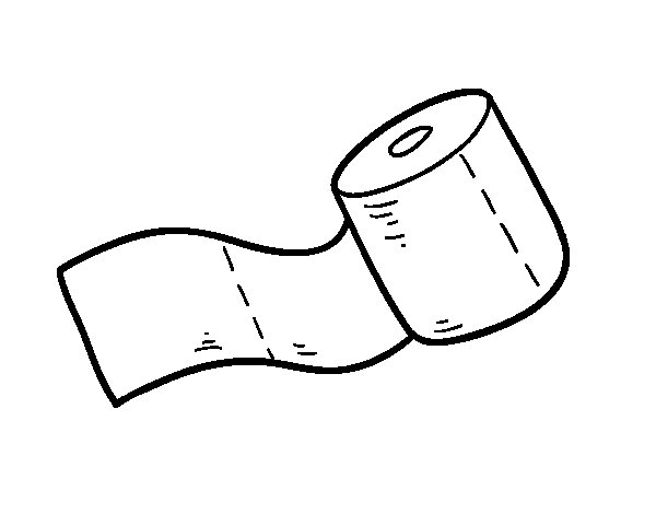 Roll of toilet paper coloring page