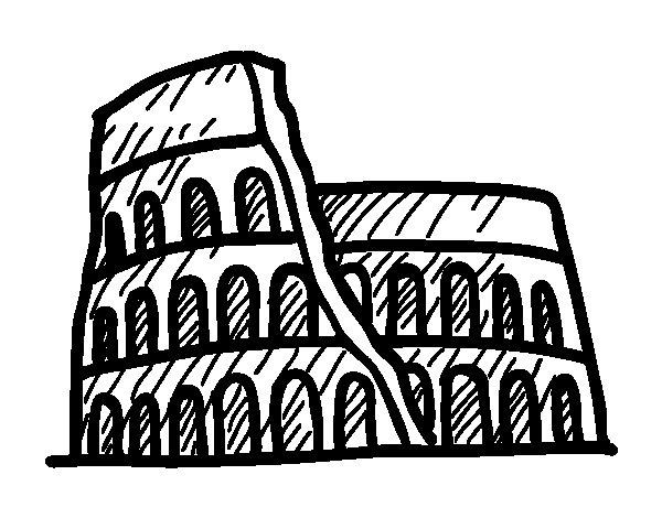 Roman amphitheatre coloring page