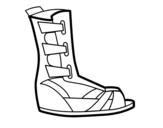 Roman sandal coloring page