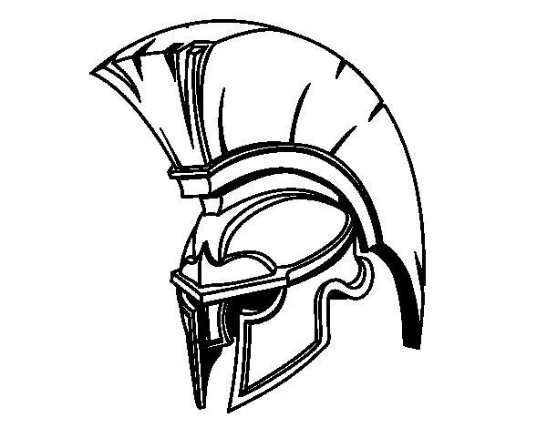 Roman Warrior Helmet coloring page