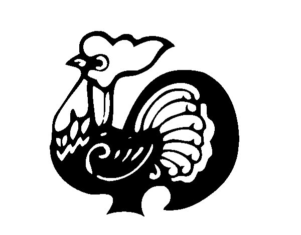Rooster Sign coloring page