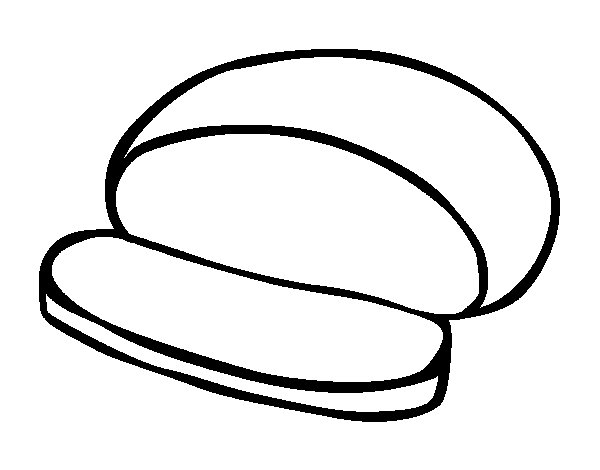Round bread coloring page