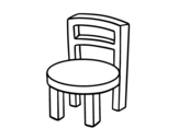 Round Chair coloring page