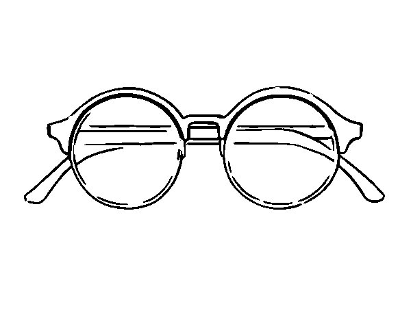 Round Glasses Coloring Page