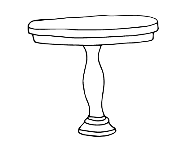 round table coloring page coloringcrewcom