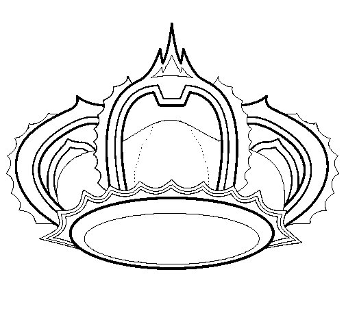 Royal crown coloring page