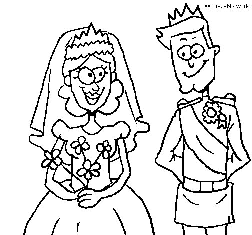 Royal wedding coloring page