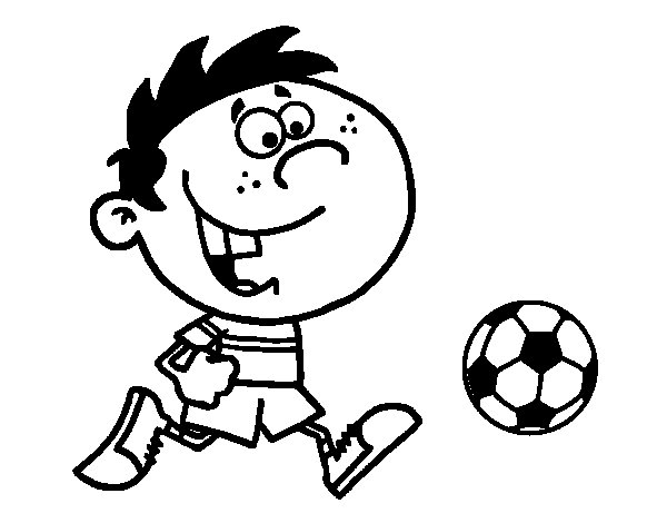 Running with the ball coloring page