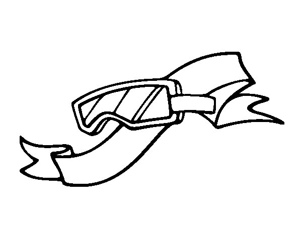 Safety glasses coloring page