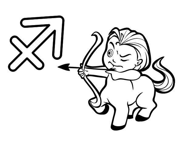 sagittarius coloring pages - photo #14