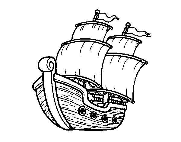 Sailing ship coloring page Coloringcrew