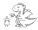 Saint George's Dragon coloring page