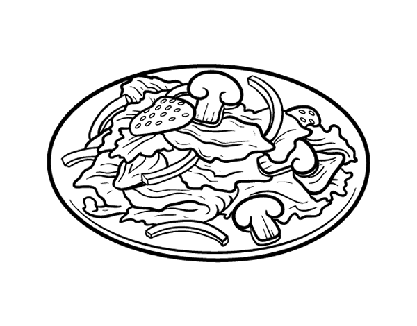 salad coloring pages - photo#2