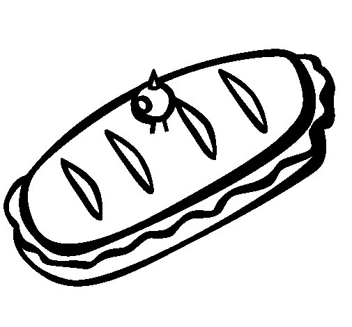 Sandwich II coloring page