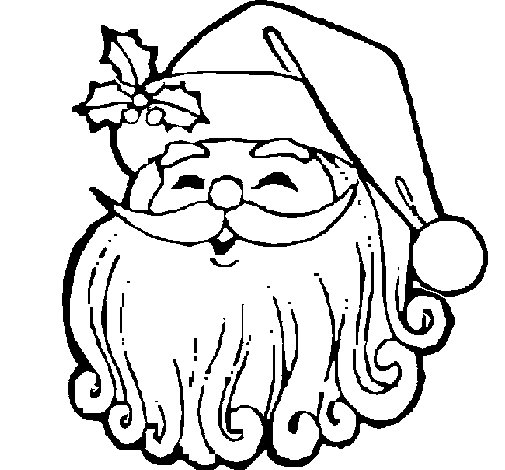 Santa Claus face coloring page