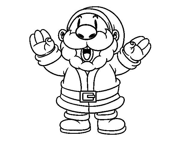 Santa Claus laughing coloring page