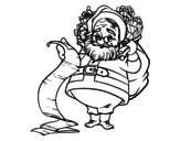 Santa Claus list coloring page