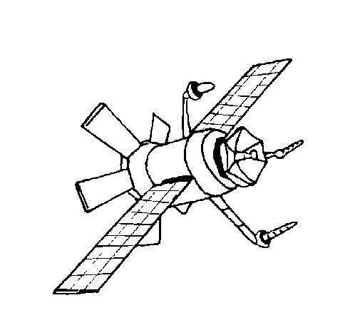 Satellite coloring page