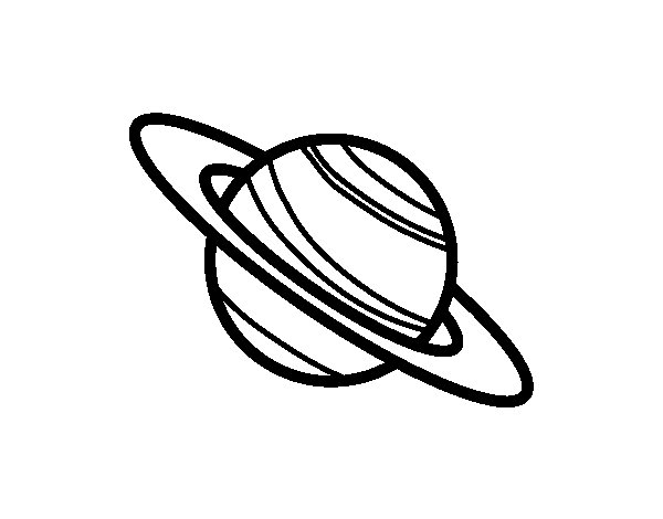 Saturn Planet Coloring Page Coloringcrew Com Saturn Coloring Page