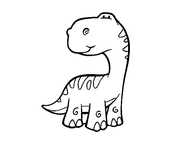 Sauropods coloring page