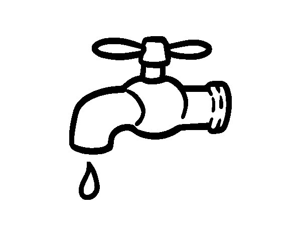 Save water coloring page