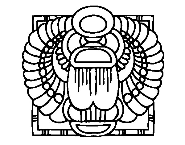 Scarab coloring page