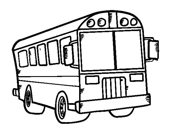 School autobus coloring page