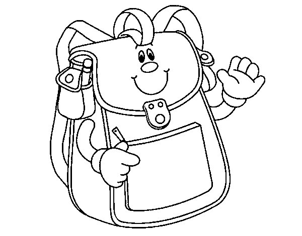 School Backpack coloring page Coloringcrewcom