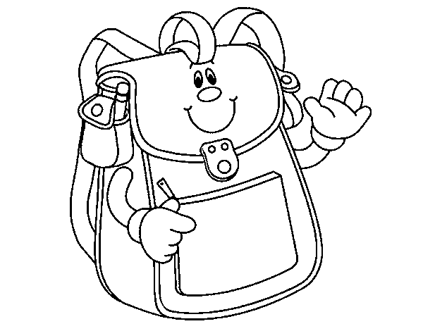 School backpack coloring page for Backpack coloring page