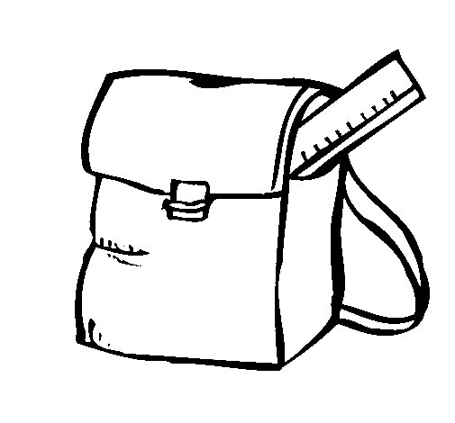 School bag coloring page for Bag coloring page