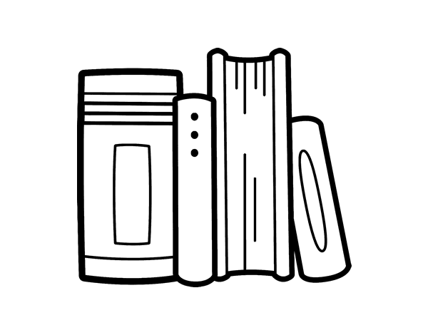 A Pile Of Books Coloring Pages