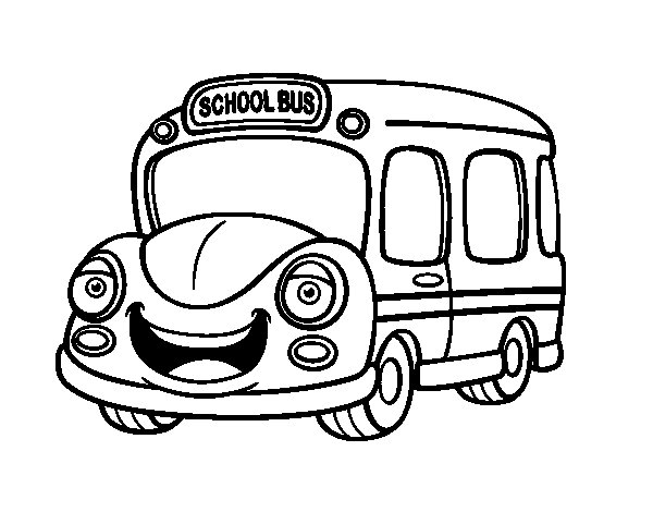 School Bus Children coloring page