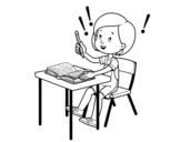 School exam coloring page