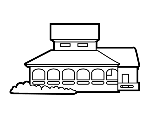 school house coloring page - school house coloring page