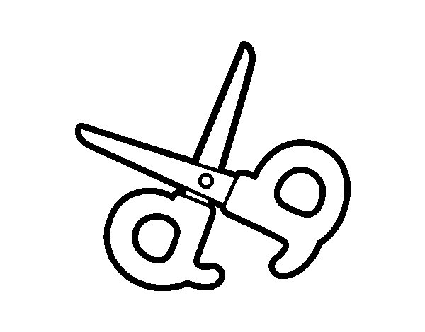 coloring pages of scissors - school scissors coloring page
