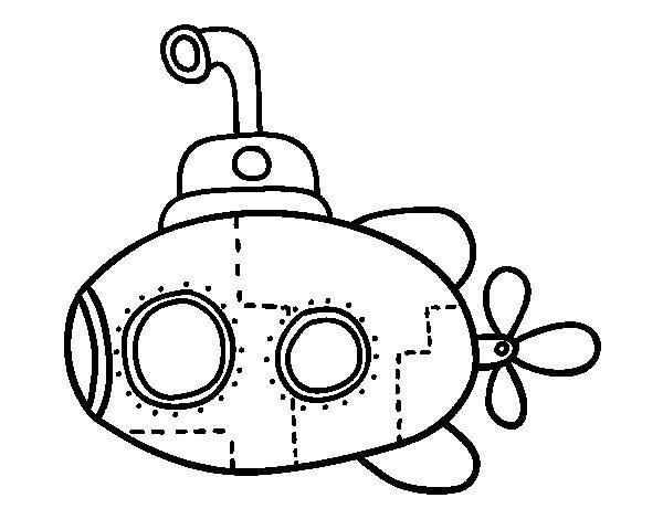 Scientific submarine coloring page - Coloringcrew.com