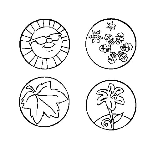 Seasons of the year coloring page