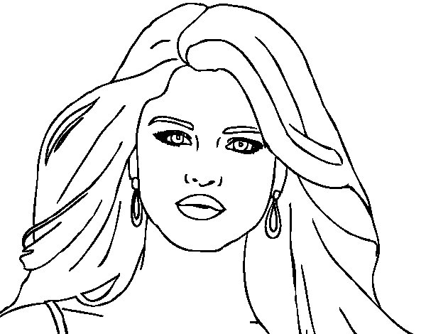 Selena gomez foreground coloring page coloringcrew com Printable Coloring Pages of Justin Bieber and Selena Gomez Drawings of Selena Gomez printable coloring pages of selena gomez