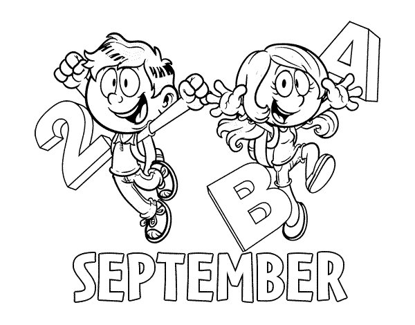 September coloring page Coloringcrewcom