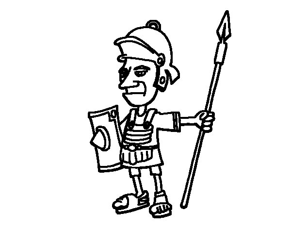 Serious soldier coloring page
