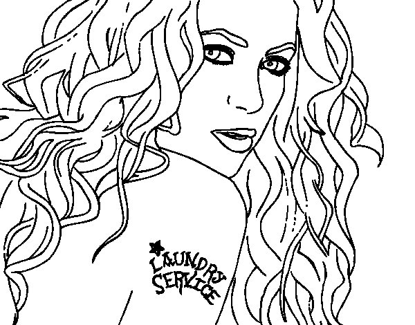shakira coloring pages games - photo#6