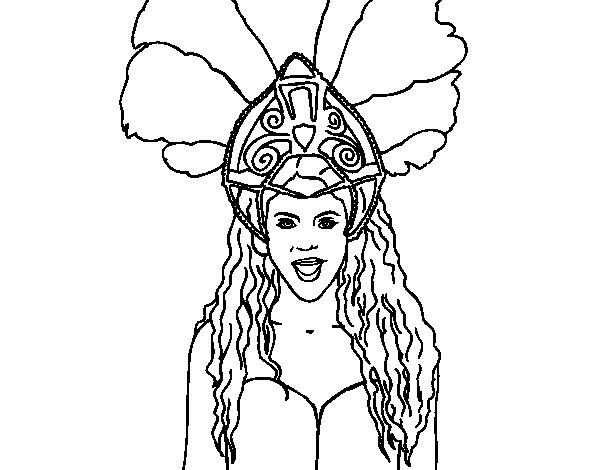 Shakira - Waka Waka coloring page