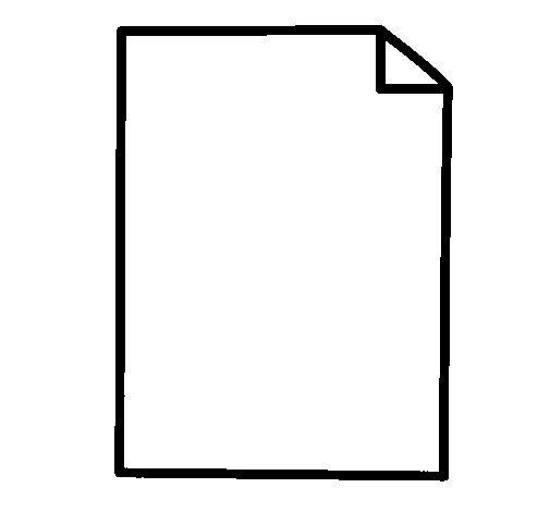 Sheet of paper coloring page