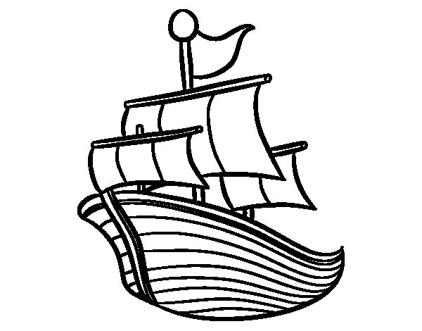 Ship of the line coloring page