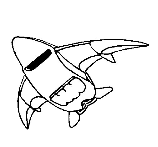 Ship taking off coloring page