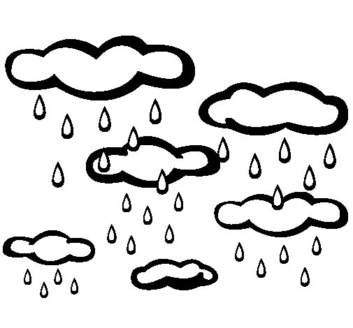 Showery day coloring page